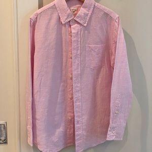 J Crew Crew Cuts linen button down shirt. Boys 6/7